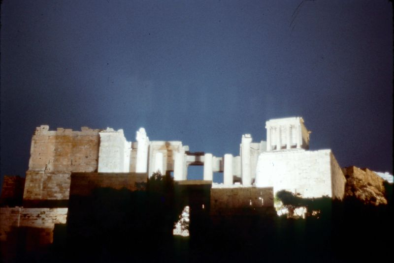Acropolis by night 1969 slide 2
