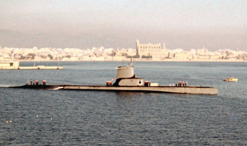 Sub in Palma closeup